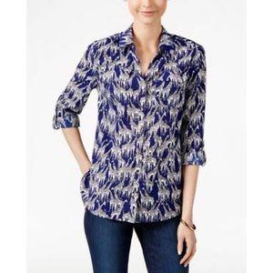 Charter Club Giraffe print blouse